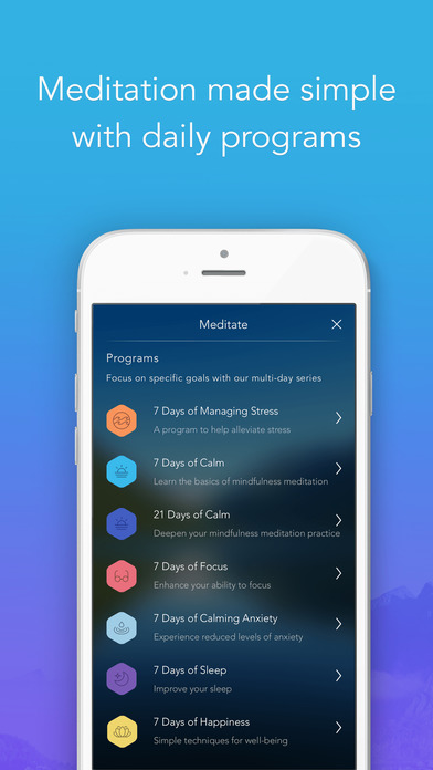 Calm: Meditation to Relax, Focus & Sleep Better Screenshot