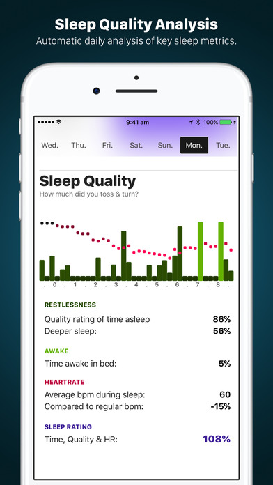 Screenshot do app AutoSleep. Track Sleep from Watch Automatically