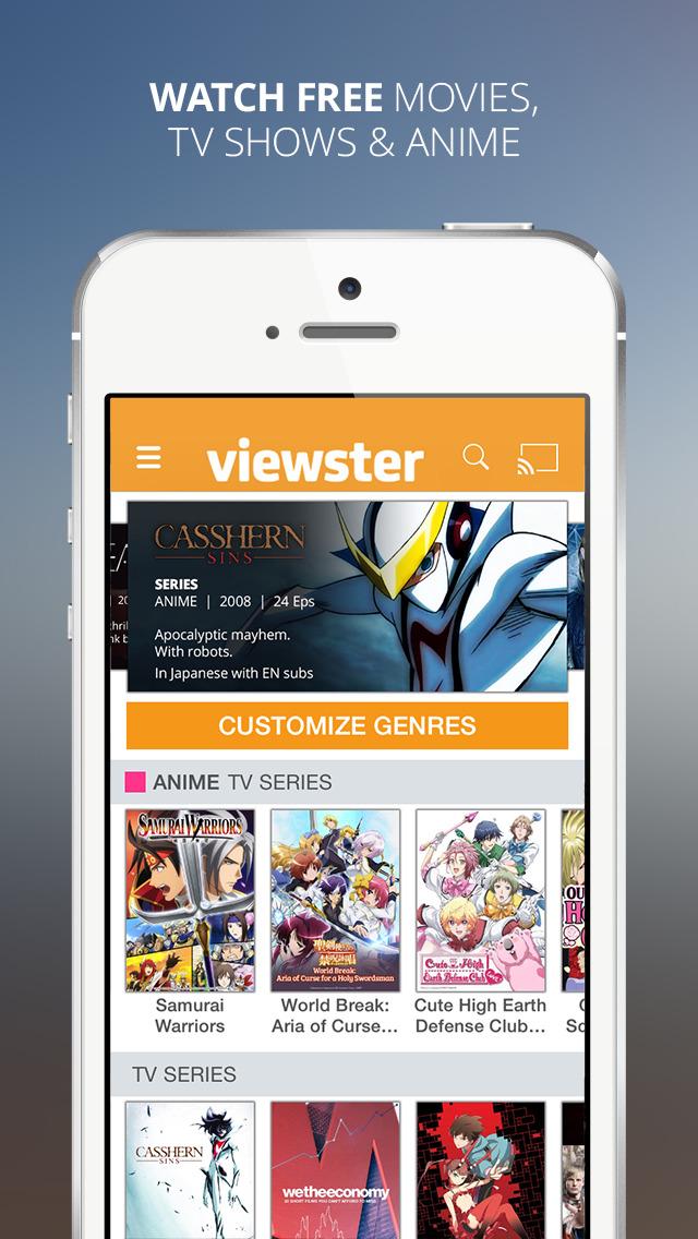 Viewster  Free Movies TV  Anime ios