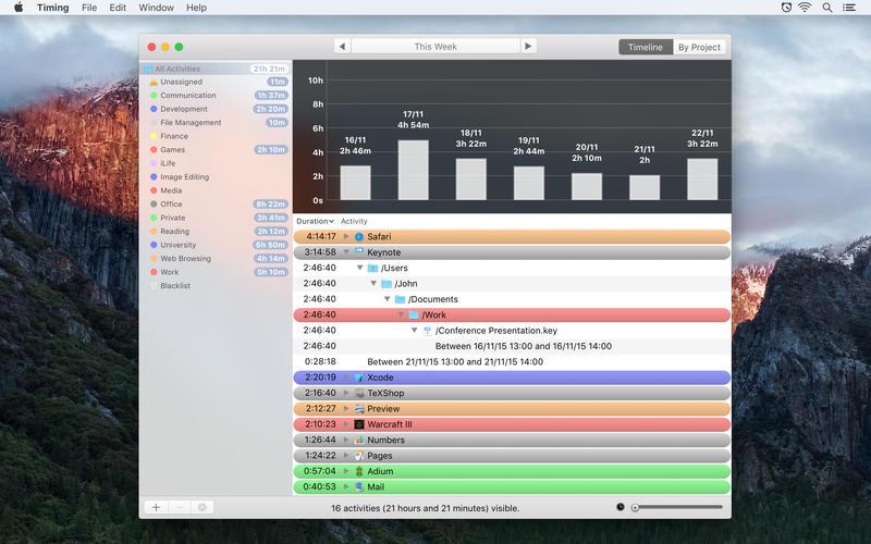 Timing for Mac 1.8 激活版 - 时间跟踪统计工具