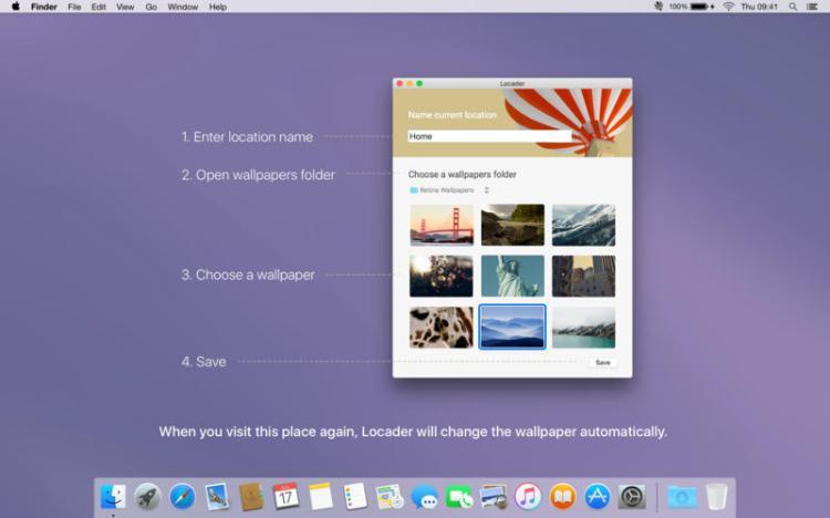 Screenshot do app Locader – Cambiante papel de parede baseado em locação