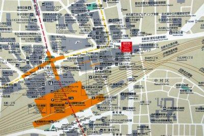 Map of the Nagoya Station area photo - Brian McMorrow photos at pbase.com