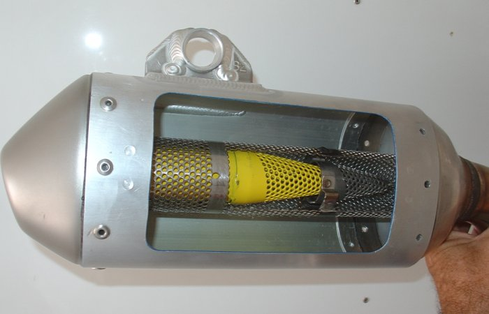 2008 yz450f muffler with internal mesh