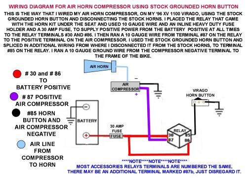 small resolution of wiring diagram for air horns using stock grounded horn button photo air horn wiring diagram without relay air horn relay wiring
