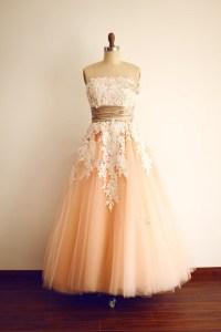 Custom Baby Pink Prom Dress,Tea Length Prom Dresses,Tulle ...