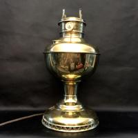 Brass - Antique Brass Oil Lamp (Converted to Electric) for ...