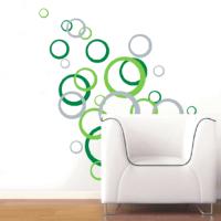 "Wall Decals - Abstract ""Circles"" Vinyl Decals - Wall Art ..."