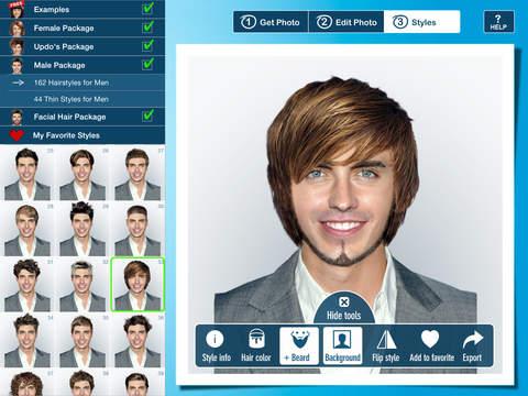 Man Hair Style Software Facial Hair Styles
