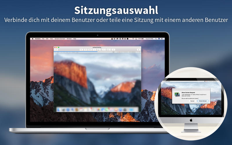 Screens 4 - Steuern Sie Ihren Computer fern, VNC Screenshot