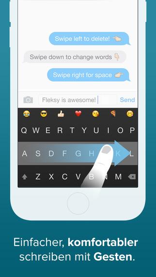Fleksy Tastatur - GIF, Erweiterungen und Themes Screenshot