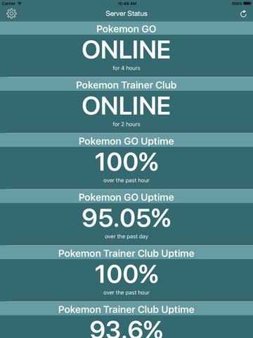 Poke Server Status Check for Pokemon Go Screenshot