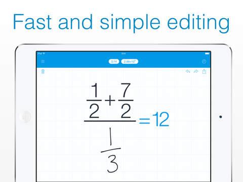 MyScript Calculator - Handwriting calculator Screenshot