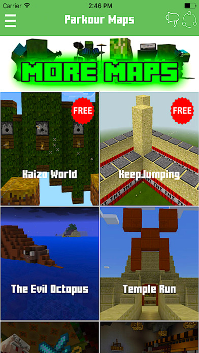 PARKOUR MAPS FOR MINECRAFT - PE POCKET EDITION ! App Download - Android APK