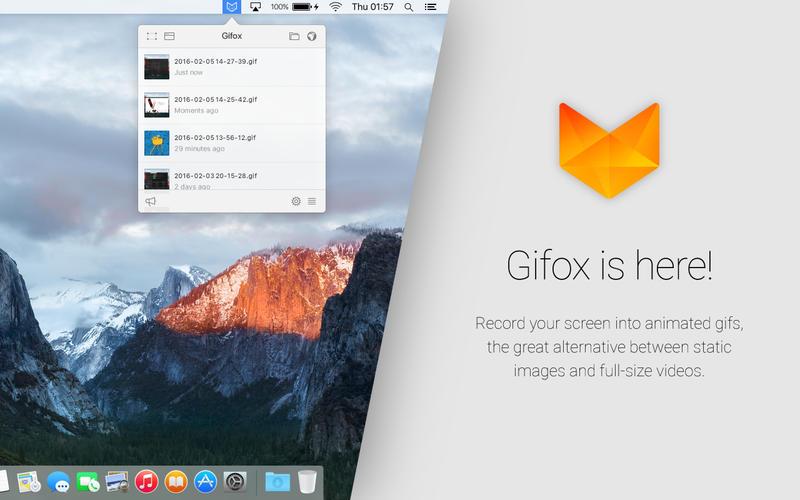 Gifox for Mac 1.5.1 激活版 - 实用的Gif动画录制工具