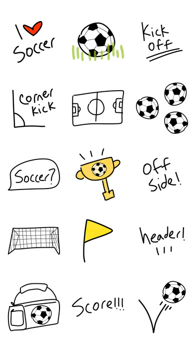 Soccer pic emoji & keyboard stickers for iMessage by This