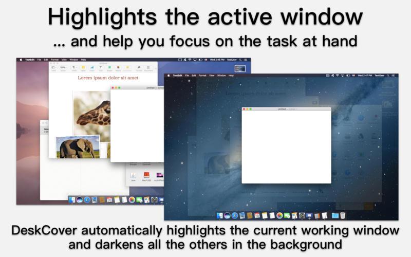 DeskCover for Mac 1.2.4 破解版 - 凸显应用程序