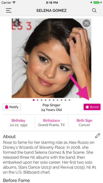 Famous Birthdays on the App Store