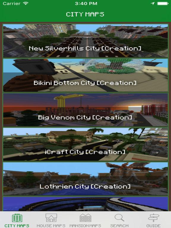 City Maps for Minecraft PE - Download free Maps & MineMaps for Pocket Edition Screenshot