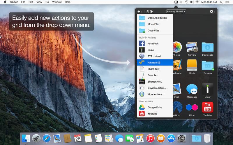 Dropzone 3.7.0 Mac 破解版 实用的文件拖拽操作效率工具