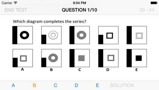 Abstract and Logical Reasoning tests on the App Store