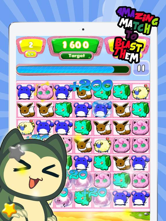 App Shopper: Monster 3 Match Battle Blast Mania - The Kids Crush Games for Pokemon edition (Games)