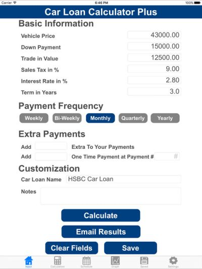 Car Loan Calculator Plus on the App Store