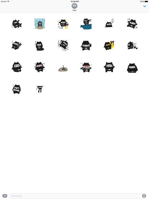 Fat Ninja Stickers 通过 NGUYEN VAN TRUONG