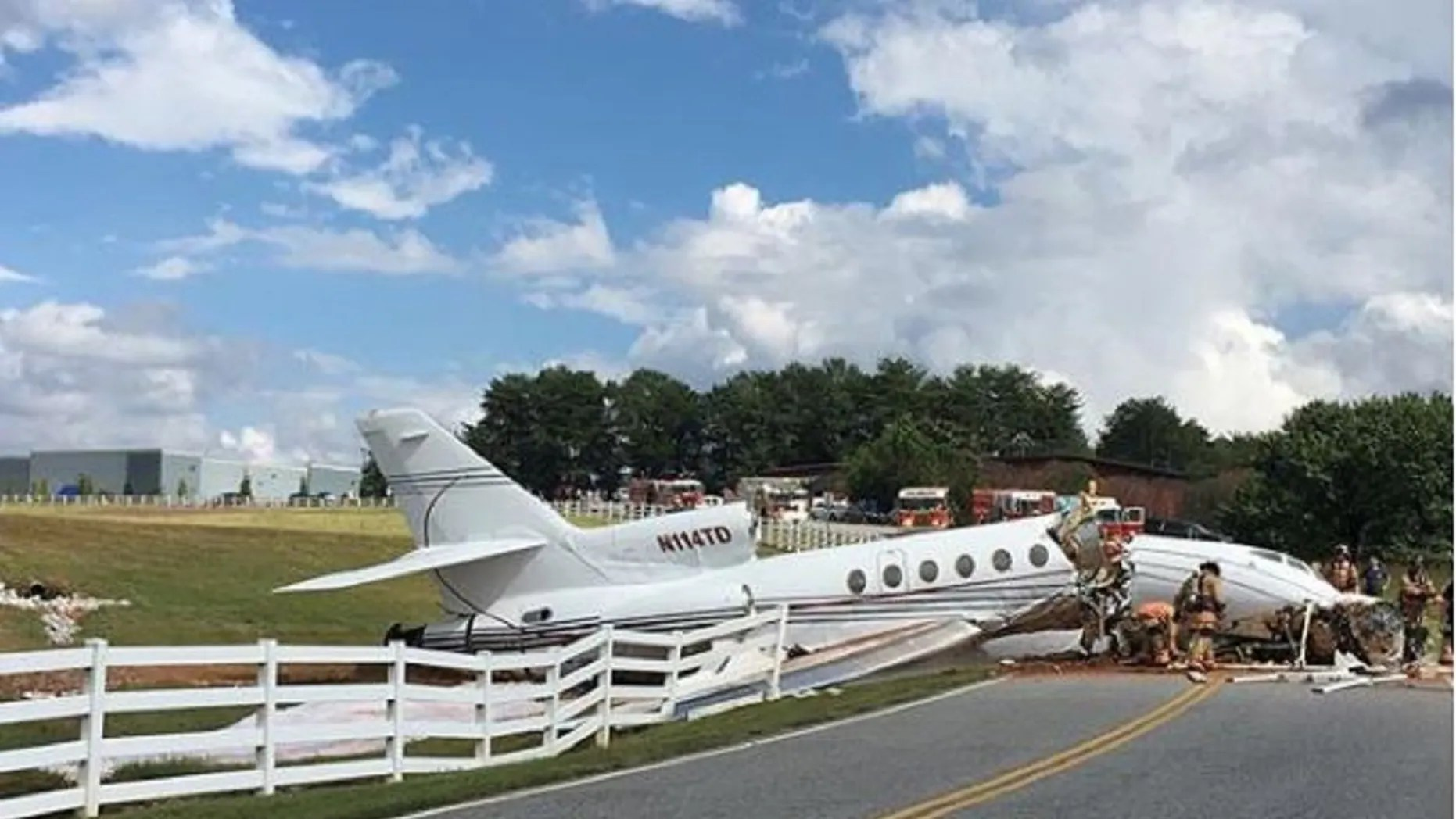 A jet crashed in South Carolina on Thursday after unwell to come to a stop on a runway, murdering during slightest two.