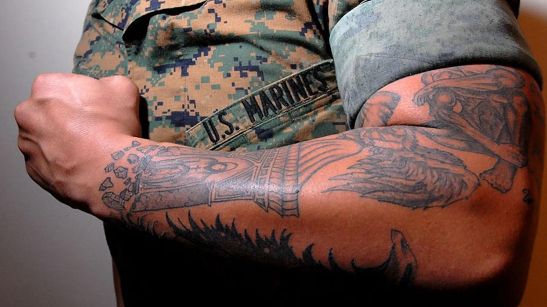 Army Sleeve Tattoo Regulations