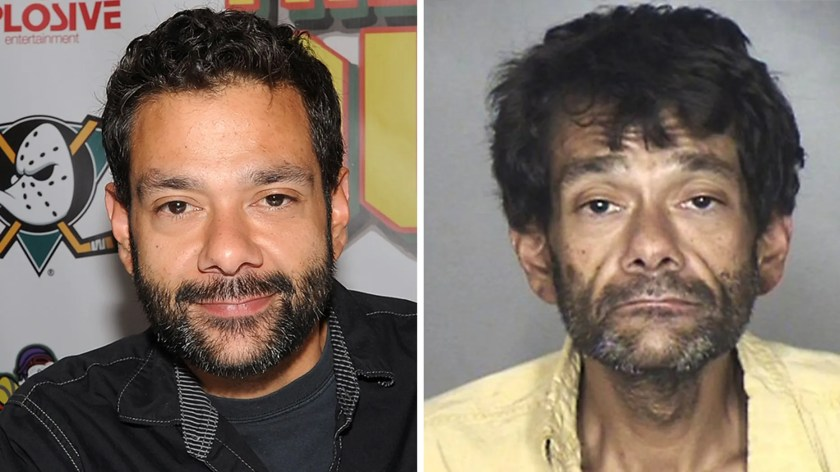 """""""Mighty Ducks"""" star Shaun Weiss, seen left in a 2015 photo, was arrested for public shoplifting."""