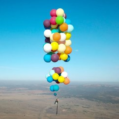 Chair With Balloons Adjustable Vanity Man Flies Over South Africa Using 100 Strapped To Camping British Adventurer Tom Morgan Flew In A Stunt Reminiscent Of The Movie
