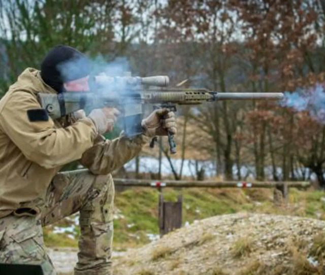 A U S Army Special Forces Soldier Assigned To 10th Special Forces Group Airborne Fires
