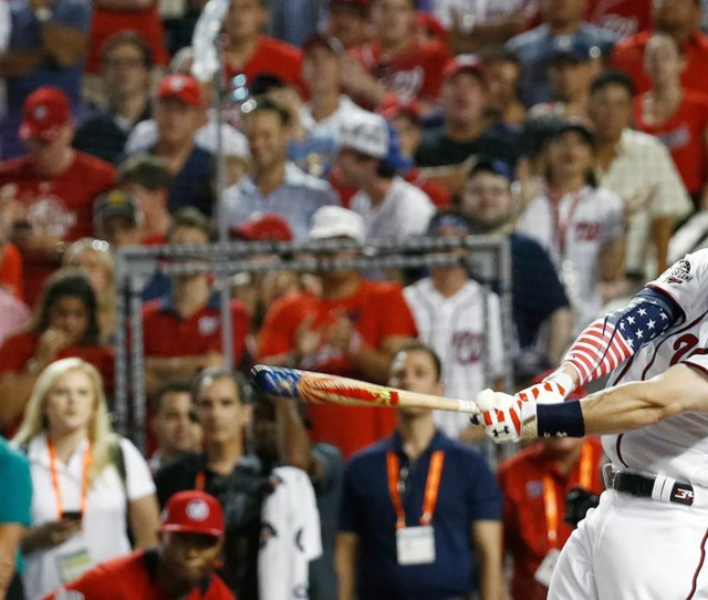 Bryce Harper Hit A Total Of  Home Runs In Winning Monday Nights Home Run Derby