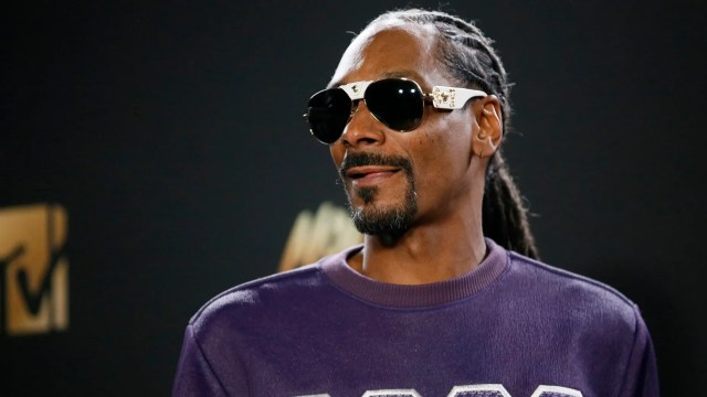 """Rapper Snoop Dogg is seen in avideo pronouncing, """"F--- the President."""""""