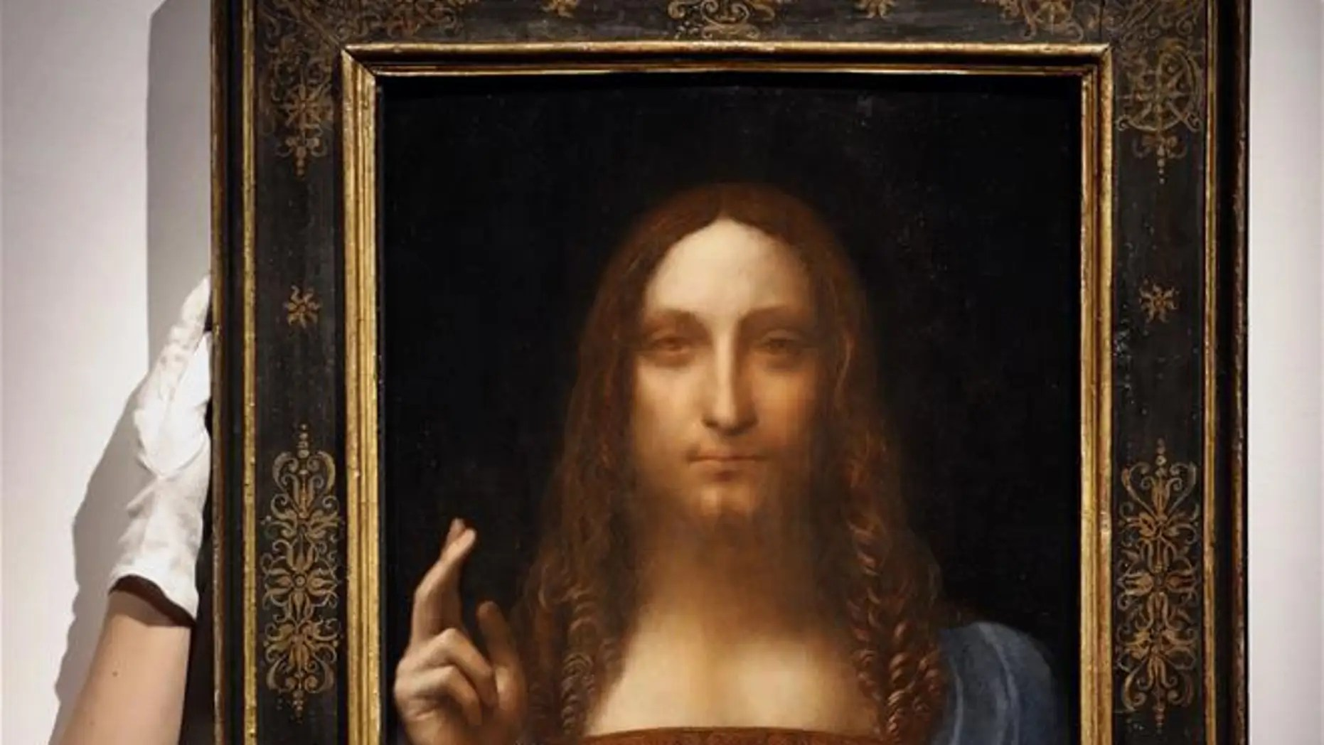 "A file photo of Leonardo da Vinci's ""Salvator Mundi,"" which is believed to be a likeness of da Vinci himself. It was used in the study."