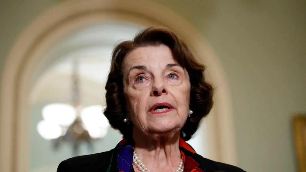 U.S. Sen. Dianne Feinstein, D-Calif., ranking member of the Senate Judiciary Committee, speaks to reporters about an FBI report on sexual misconduct allegations against Supreme Court nominee Brett Kavanaugh, on Capitol Hill, Oct. 4, 2018.