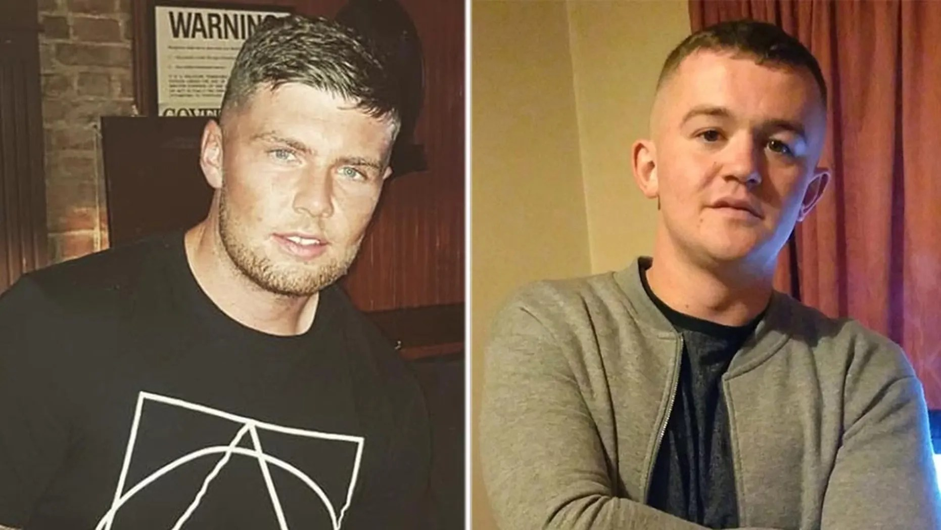 "Steven O'Brien [left] was arrested after he was accused of punching John ""Danny"" McGee [right] in the head who later died."