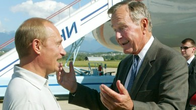 """Former President George W. Bush revealed in an interview released Sunday that he asked his late father for permission to bring Russian President Vladimir Putin to visit the family's famed compound in Kennebunkport, Maine.<br data-cke-eol=""""1"""">"""