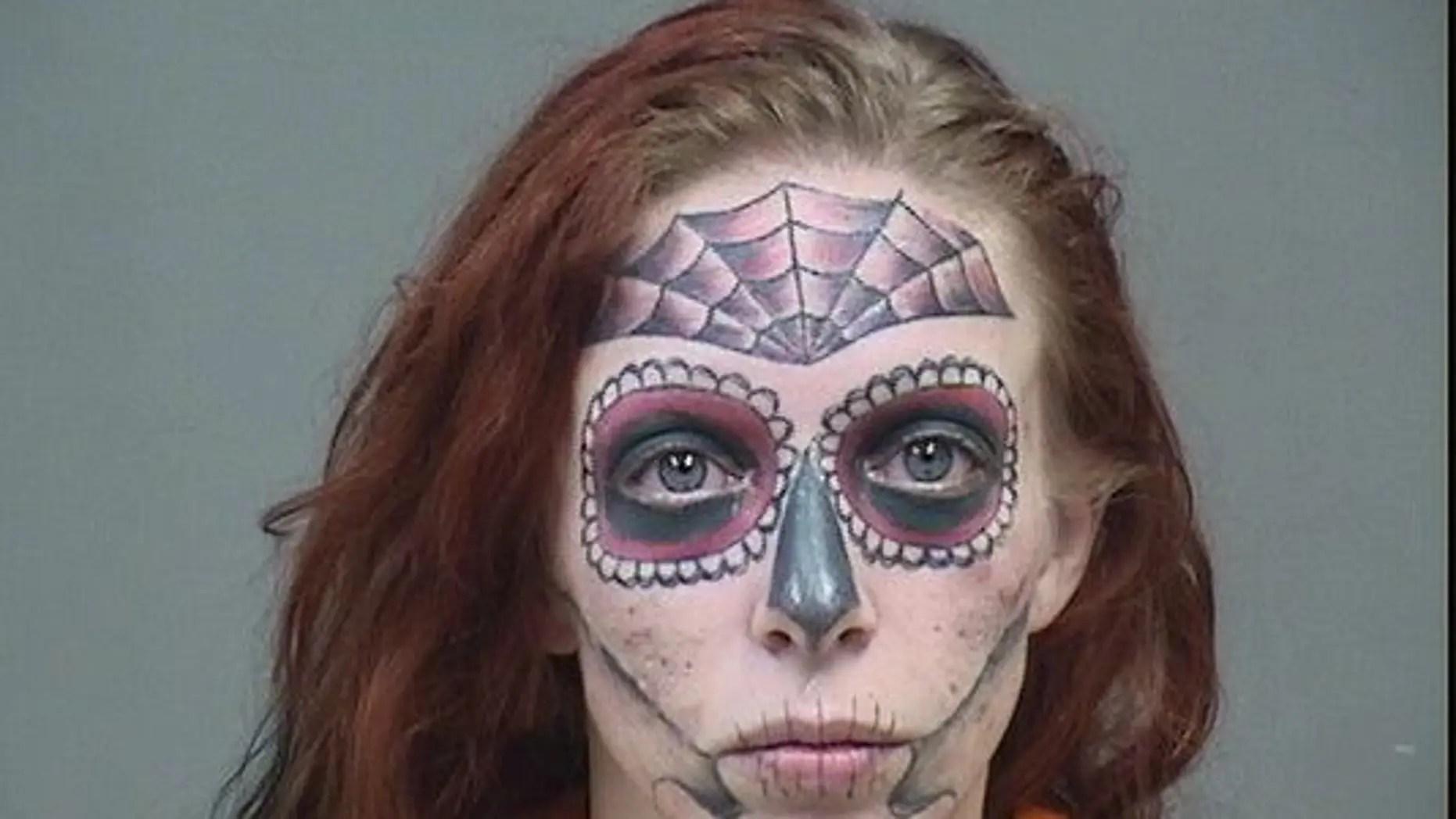 mugshot of ohio woman with unique