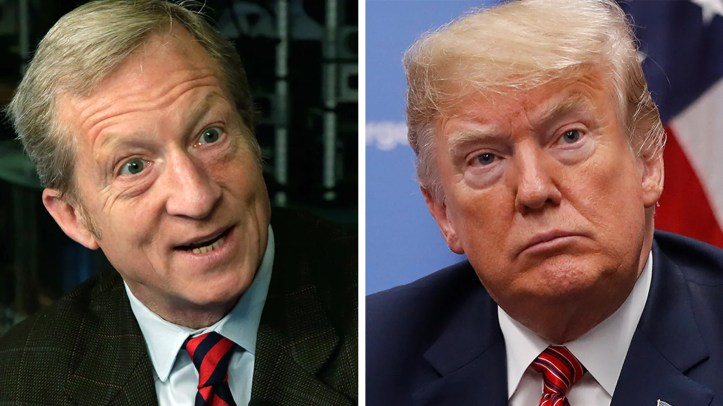 Liberal megadonor Tom Steyer has supported impeachment through his organization Need to Impeach