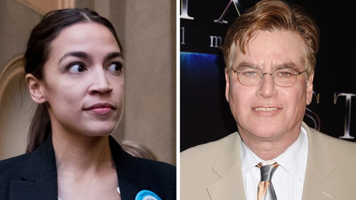 Rep. Alexandria Ocasio-Cortez, D-N.Y., fired back Sunday at liberal writer-director Aaron Sorkin.