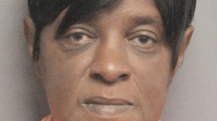 Michelle Jackson faces a heavy battery charge because she allegedly beat her ex-boyfriend with his own leg.