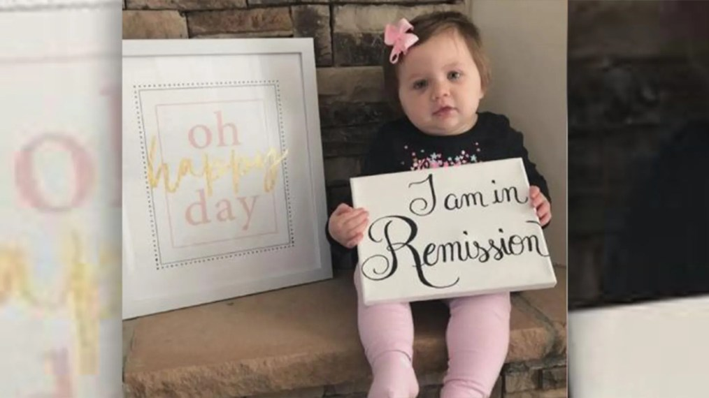 Molly Hughes beat cancer after she was diagnosed with stage 4 neuroblastoma at nearly five months old. (Chelsea Hughes)
