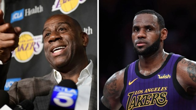 "3d66f35bd51 NBA superstar LeBron James was allegedly ""stunned"" when he discovered Magic  Johnson announced Tuesday"