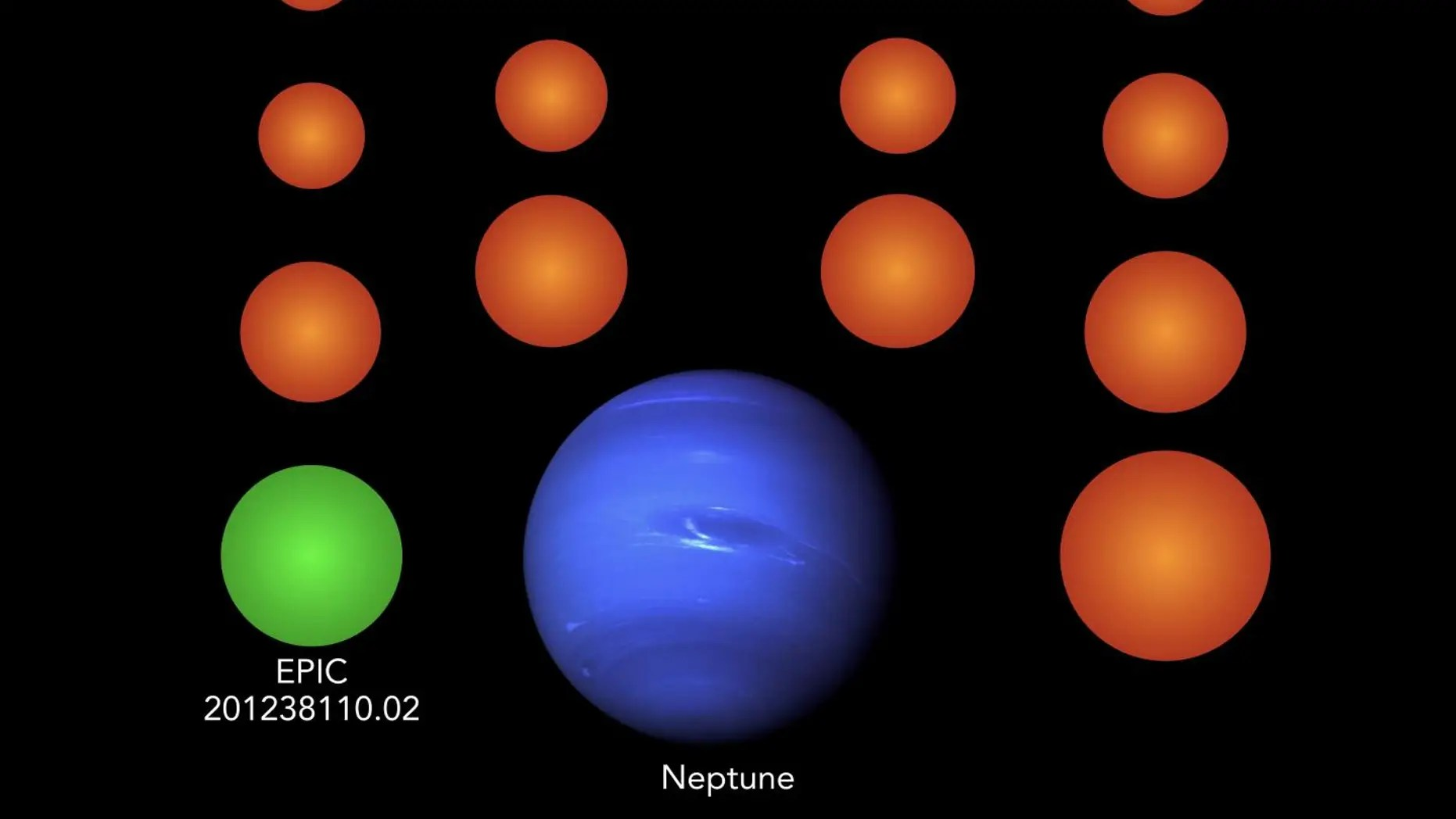 medium resolution of a diagram showing the sizes of the newly identified planets compared to earth and neptune
