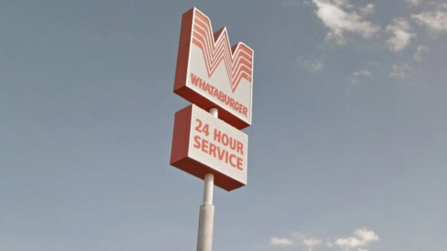 Whataburger sign outside restaurant in Bastrop, Texas. (Photo: Google Maps)