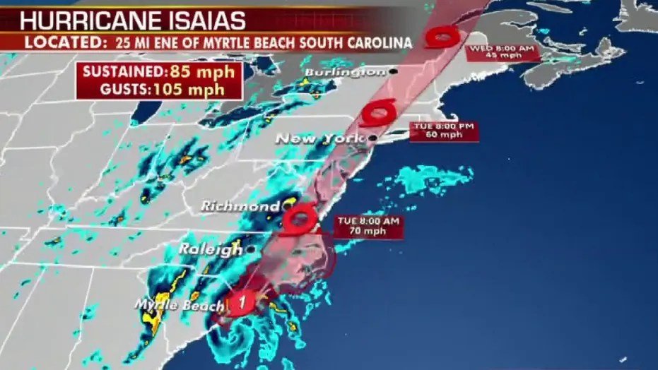 Isaias Downgraded To Tropical Storm Fox News