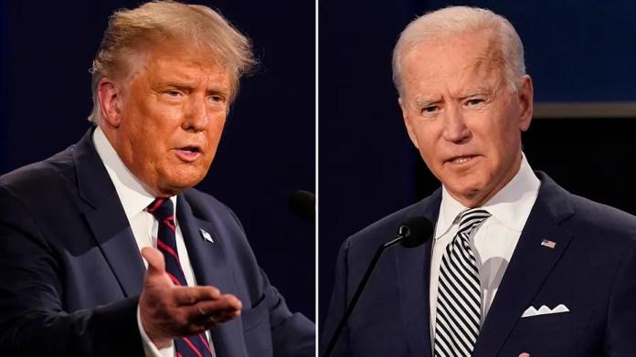 Trump stops Biden on infrastructure