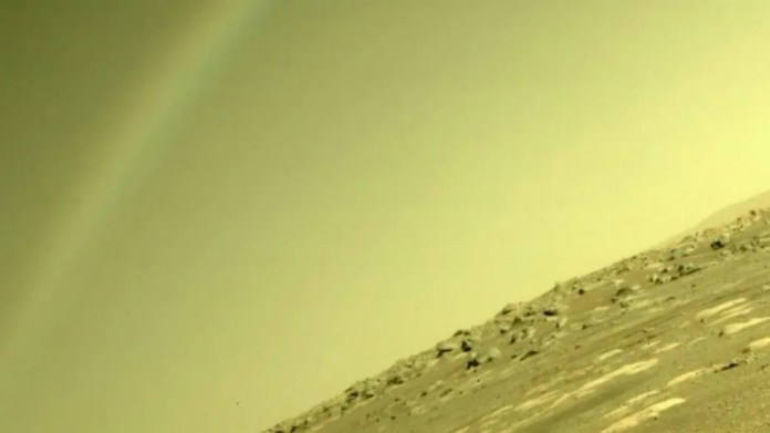 NASA explains the mystery 'rainbow' on Mars