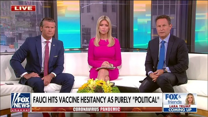 'Fox & Friends' slams Fauci for telling unvaccinated Americans to 'get over it'